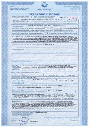 Страховой полис по налоговому консультированию
